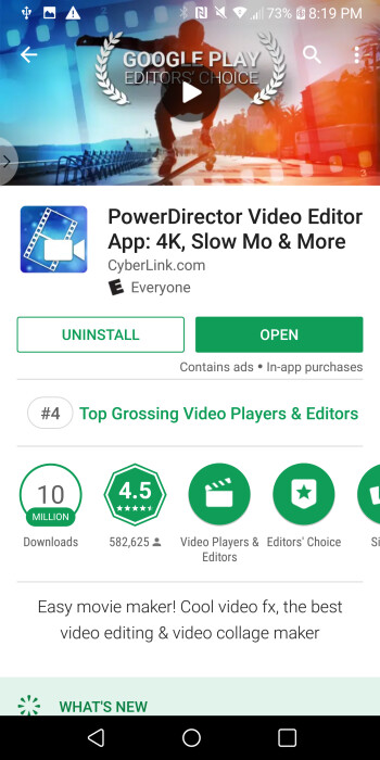 There are several video editing apps that are free, like CyberLink's PowerDiretor and KineMaster.
