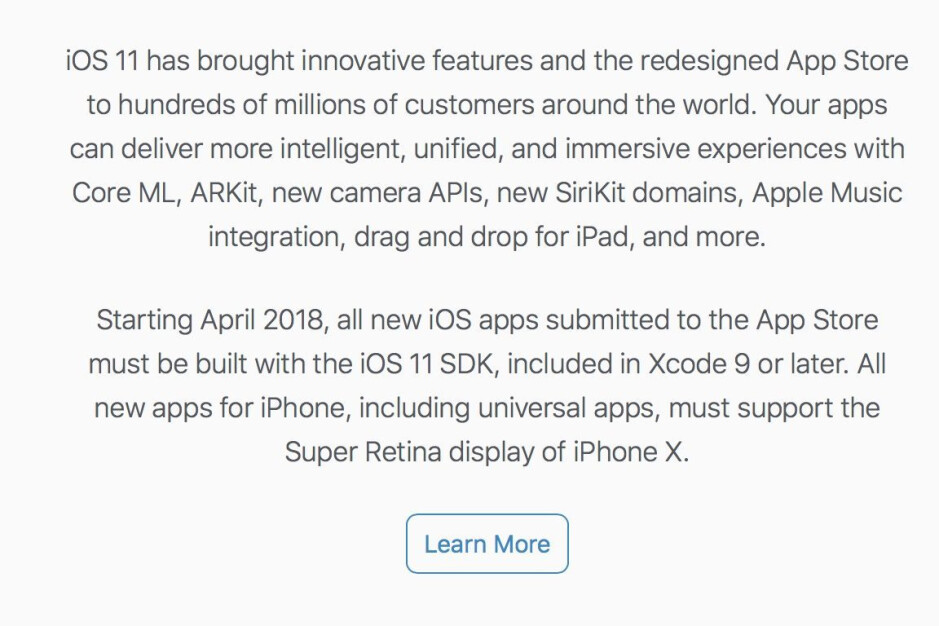 All aboard the notch train! Apple mandates that all new apps support the iPhone X display
