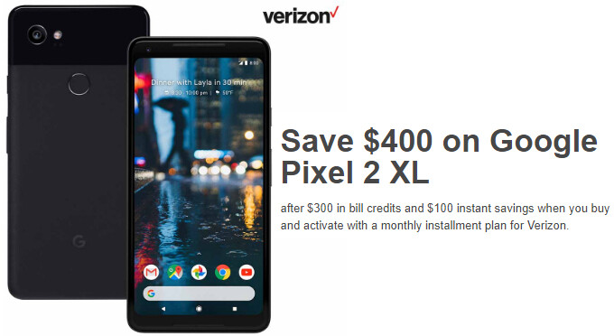 Crazy Deal: Save $400 on Verizon's Google Pixel 2 XL (today only)