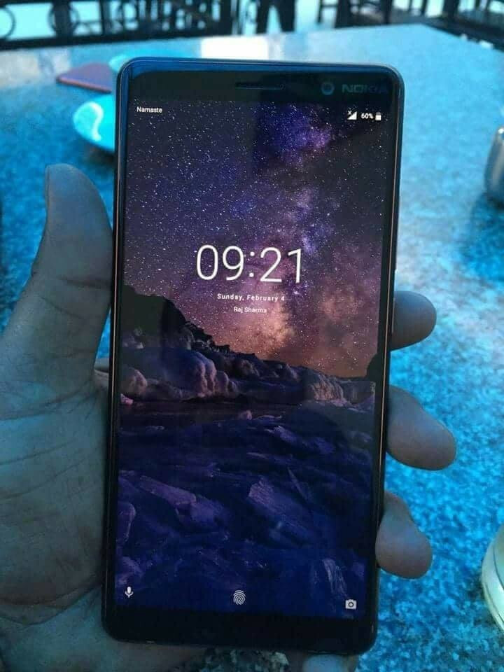 The Nokia 7+ will feature thin bezels - Nokia 7+ live photo shows off the handset's thin bezels and 18:9 aspect ratio