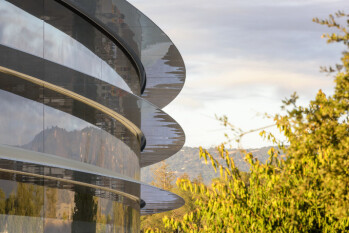 Workers at Apple's glass headquarters are in a world of pane