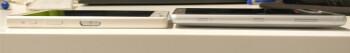 Xperia Z5 Compact (left) vs. Xperia XZ2 Compact prototype (right)