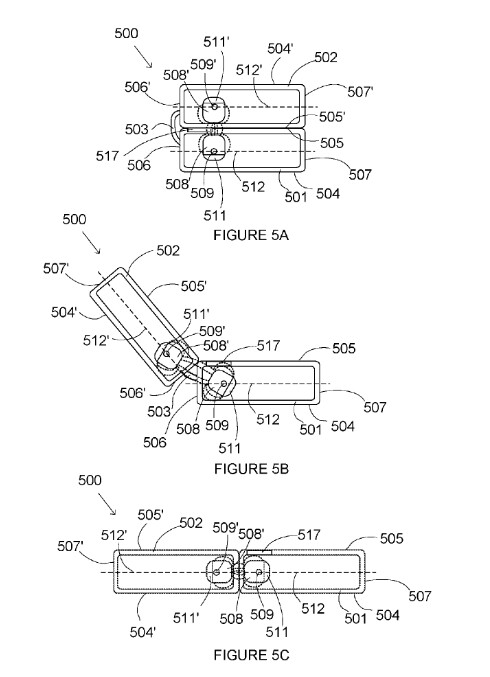 Images from Microsoft patent reveal how the Andromeda will fold - New patent shows magnetic locks could be used on Microsoft's folding Andromeda tablet