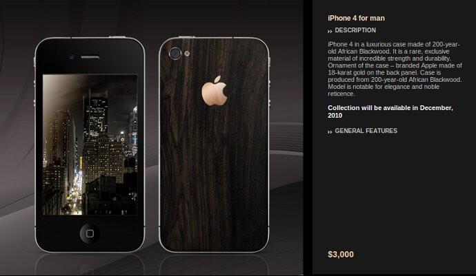 Gresso unveiling iPhone 4 for Him  - $3000, and for Her - $3500