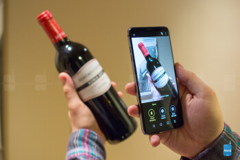 Scan an object with LG's QLens feature to search for it on Amazon or Pinterest