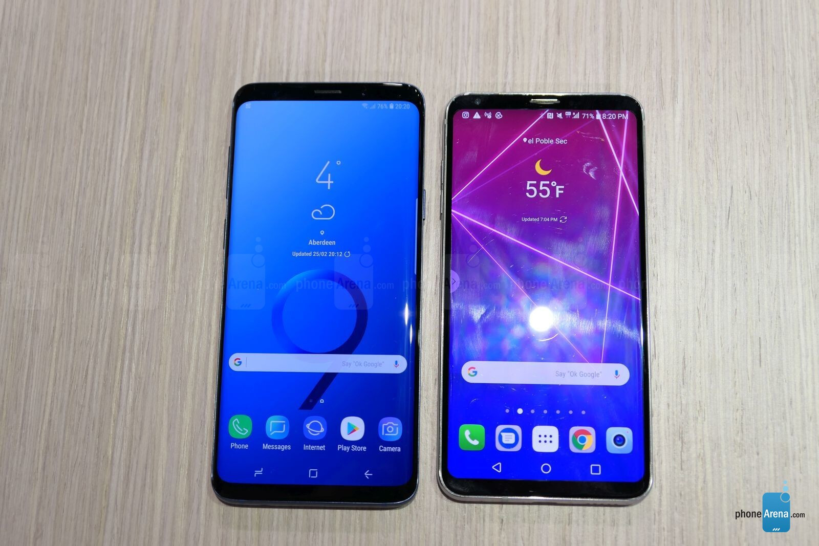 samsung galaxy s9 vs lg v30 first look phonearena reviews. Black Bedroom Furniture Sets. Home Design Ideas