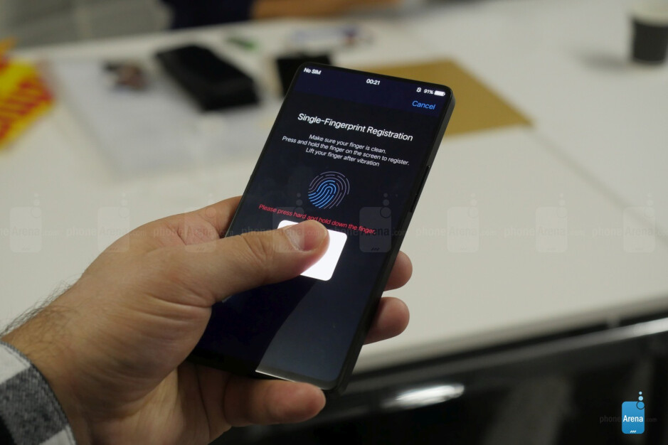 Hands-on with the 99% bezelless phone that has a fingerprint scanner under the screen