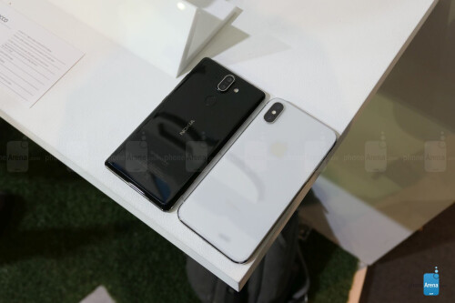 Nokia 8 Sirocco vs Apple iPhone X first look