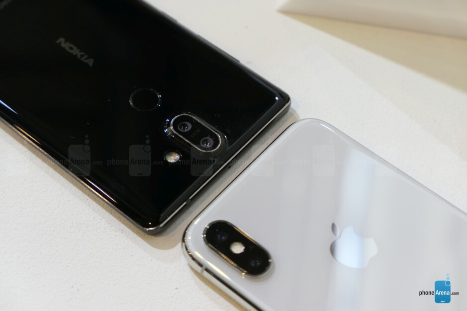 Nokia 8 Sirocco vs Apple iPhone X: first look