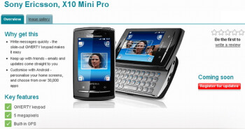 The Sony Ericsson Xperia X10 mini pro is headed to Vodafone UK & delayed for T-Mobile UK