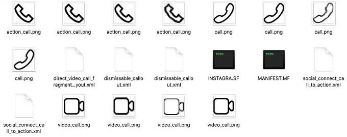 The files hinting at the calls implementation, spotted after an APK teardown - Instagram voice and video calls might get released soon