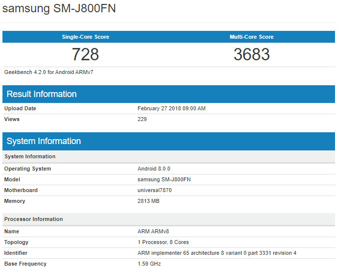 Samsung Galaxy J8 leaks out ahead of official unveiling