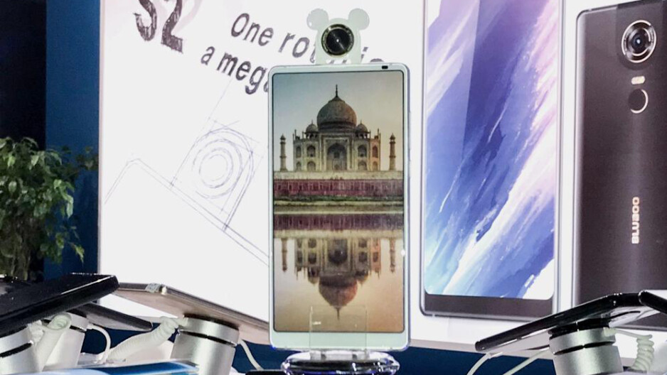The Bluboo S2 was at MWC with its crazy rotatable camera, all-screen front, massive battery