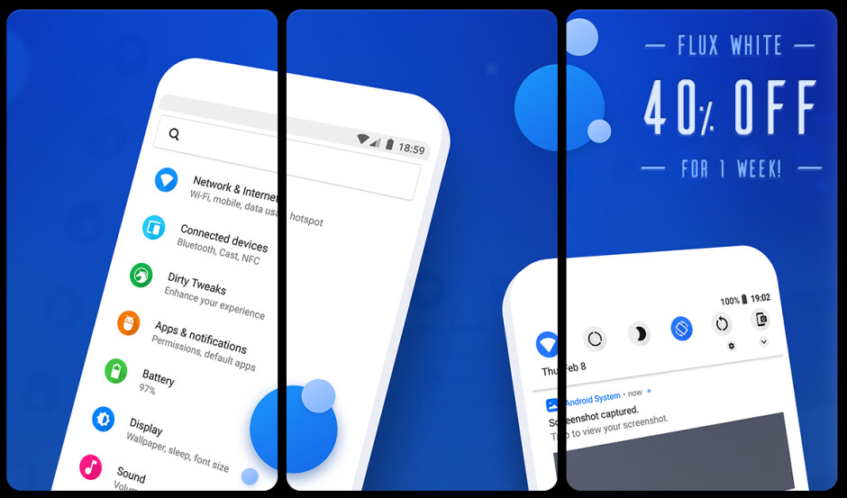 Android P lifts the Flux White visuals, all the while it locks rootless theming