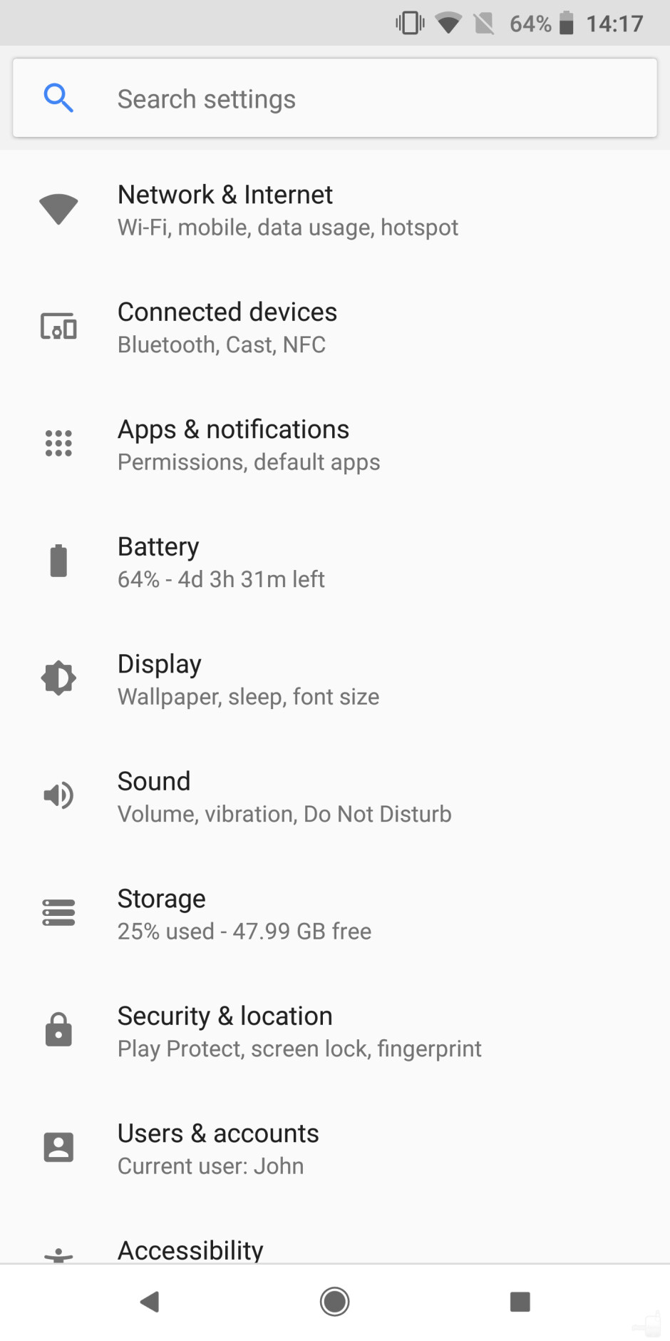 Android 9 Pie settings menu (left) vs Android Oreo settings menu (right) - Android 9 Pie review: Perfecting the confectionery recipe