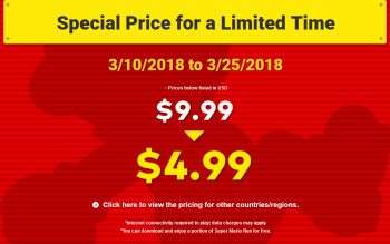 Save 50% on Super Mario Run from March 10th to the 25th