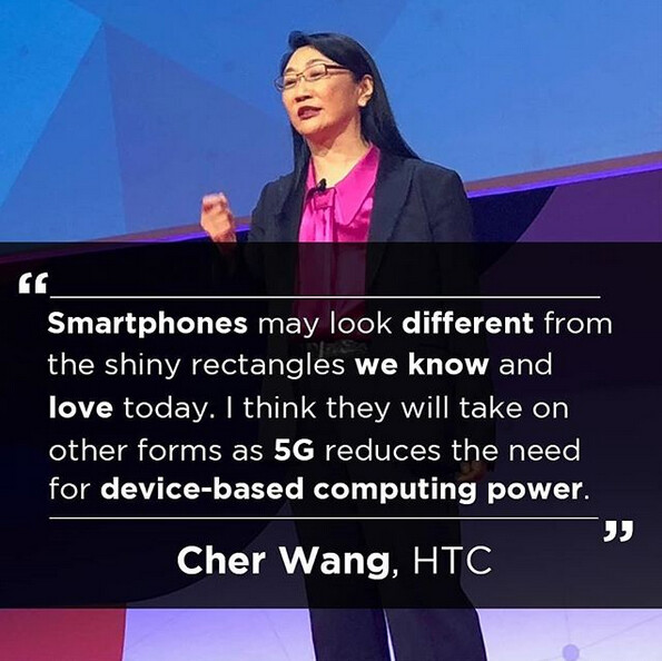 HTC co-founder and chairwoman Cher Wang thinks 5G could lead to different shaped smartphones - HTC co-founder Cher Wang: 5G will lead to new shapes for smartphones