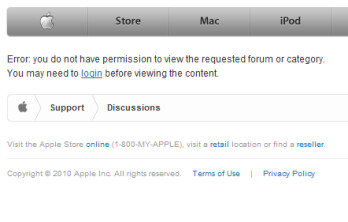 Apple deletes forum threads about Consumer Reports article