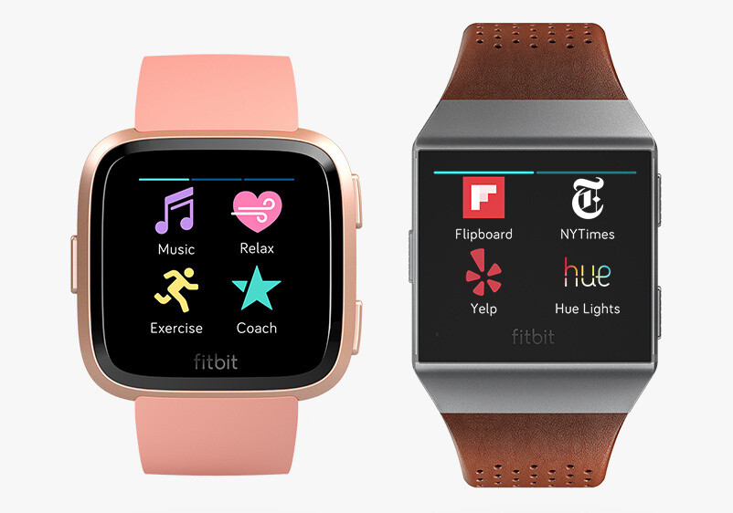 Fitbit Versa (left) vs Ionic (right) - Fitbit's new Versa smartwatch copies the Apple Watch, but beats it in battery life