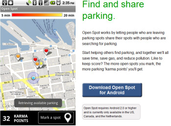 Open Spot helps Android owners find a parking spot