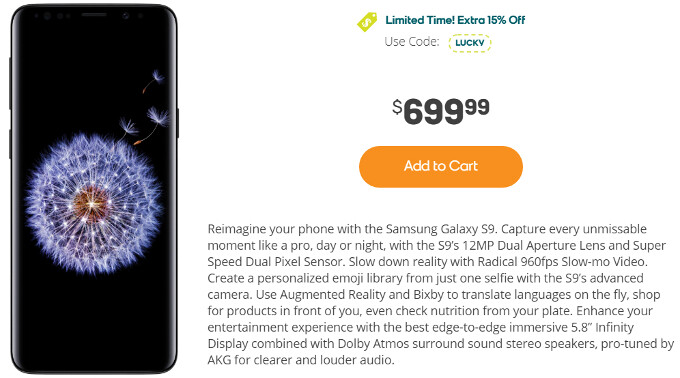 Major Deal: Samsung Galaxy S9 costs only $595 at Boost Mobile (limited time offer)