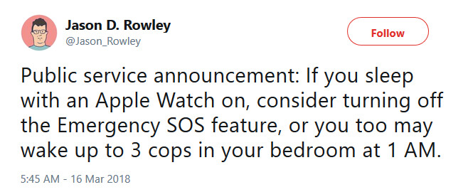 The Apple Watch can make a 911 call while you sleep - Apple iPhone and Apple Watch users are accidentally setting off the Emergency SOS feature