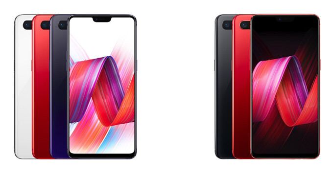 Oppo R15 (left) and Oppo R15 Dream Mirror (right) - Possible OnePlus 6 design hinted by Oppo's new flagships: notched OLED display & dual cameras galore