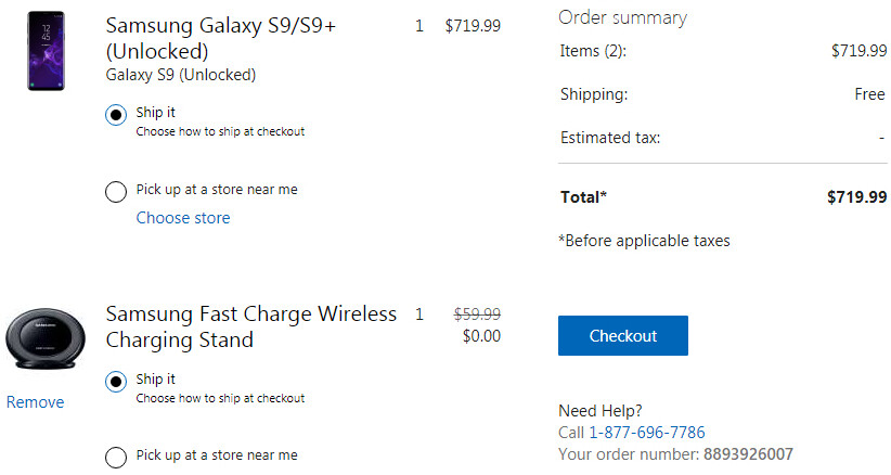 Unlocked Samsung Galaxy S9 and S9+ come with free Wireless Charging Stands at Microsoft