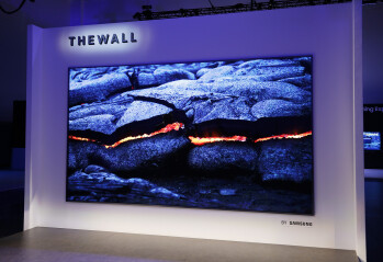 This is The Wall – Samsung's 146-inch microLED TV. It'll probably cost a kidney.