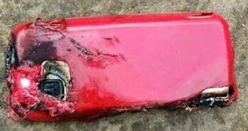 The back of the Nokia 5233 that exploded