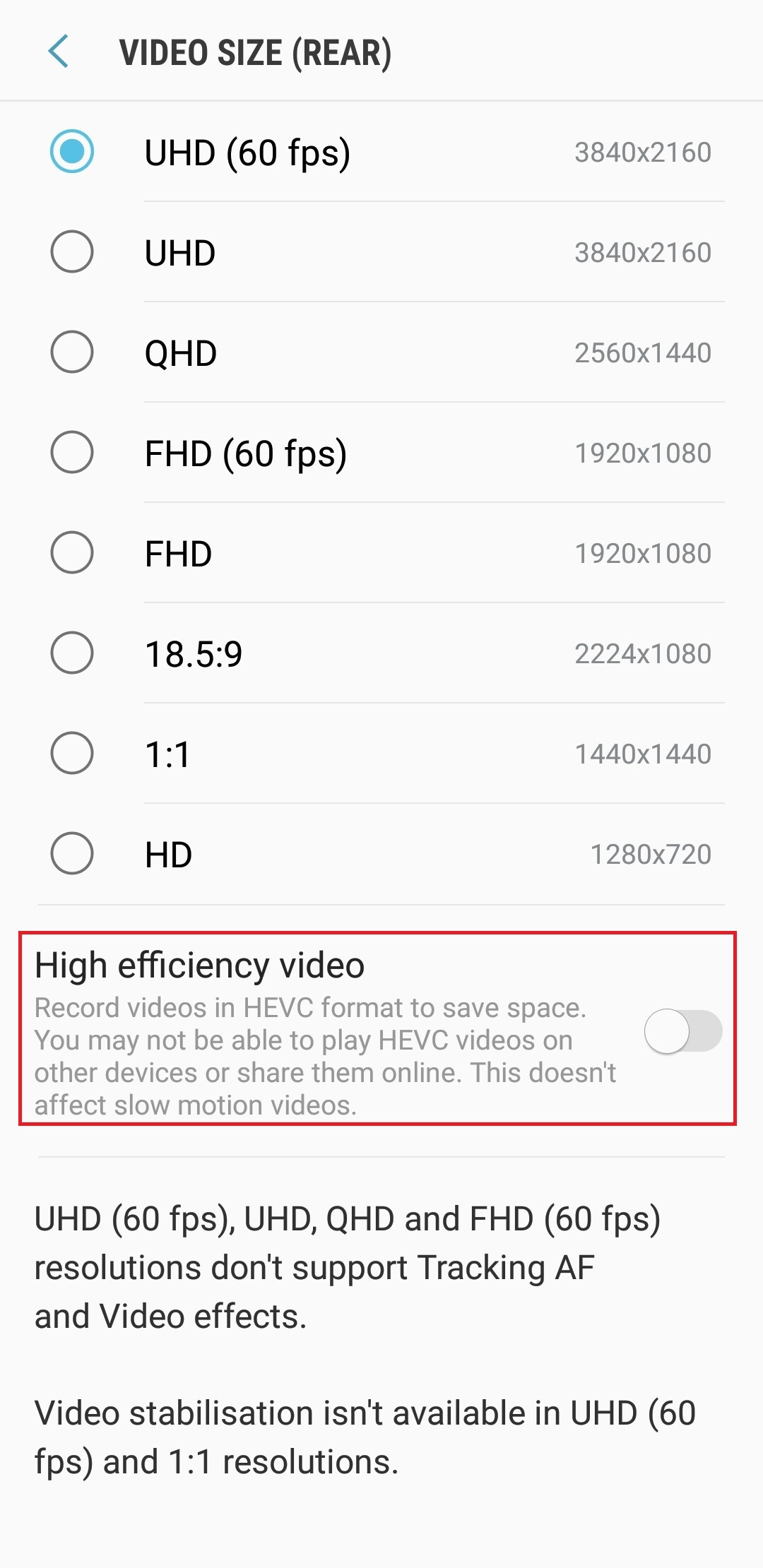 The size you save and what you lose with high-efficiency video