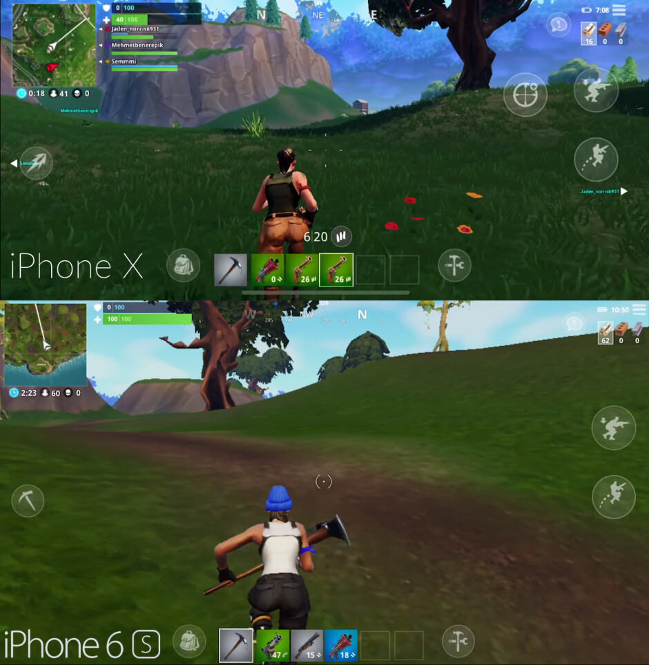Fortnite on iPhone X vs iPhone 6s - Fortnite mobile compared to the home console and PC versions: What are the differences?