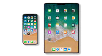 A proposed iPad design, borrowing heavily from the iPhone X