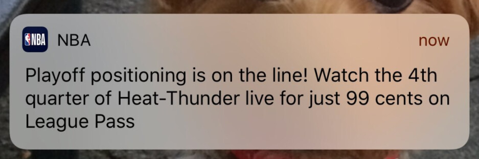 Wait until the last 12-minutes of an NBA game to see it streamed live, and pay only 99 cents - NBA tests streaming the fourth quarter of regular season games for only 99 cents