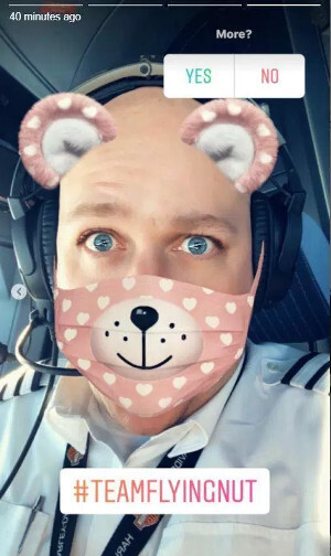 Mr Castellucci even included a poll to see if people wanted more - Airplane pilots suspended because of using Snapchat mid-flight