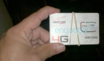 Verizon's LTE SIM card spotted flashing its 4G logo