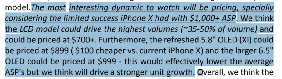 RBC Capital analyst sees lower priced iPhone models launching later this year - Analyst sees 2018 Apple iPhone Xs priced at $899 and up