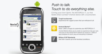 Sprint to offer Motorola's i1 Android model on July 25th via web and telesales