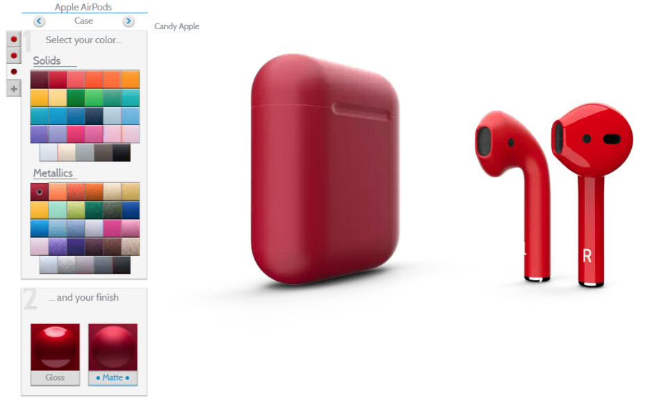 Colorware's AirPods customizer - Best custom AirPods & accessories in 2018: Colorful earbuds, stickers, hooks, cases, and fins