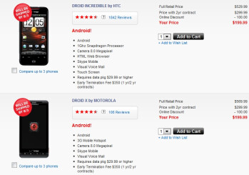 New orders of the Droid Incredible and DROID X not to ship until August