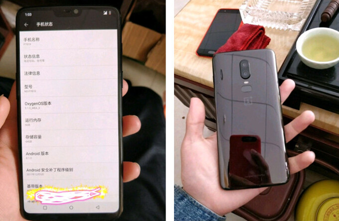 Previously leaked OnePlus 6 prototype - New OnePlus 6 leak reveals 3.5mm jack, interesting rear