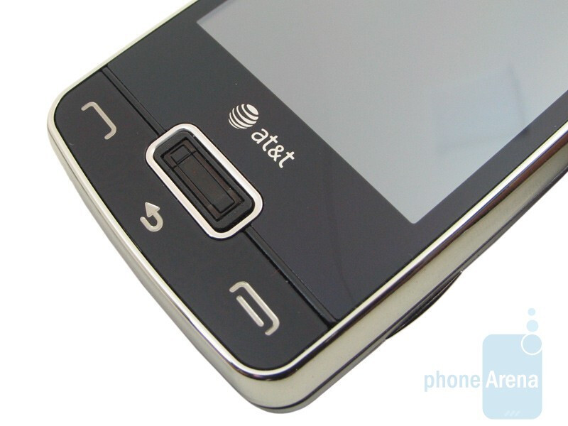 Yes, that's a fingerprint reader there with the LG eXpo. - Do you remember this phone that had a projector on it back in 2009?