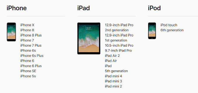 iOS 11.3: here is a full changelog and all compatible devices