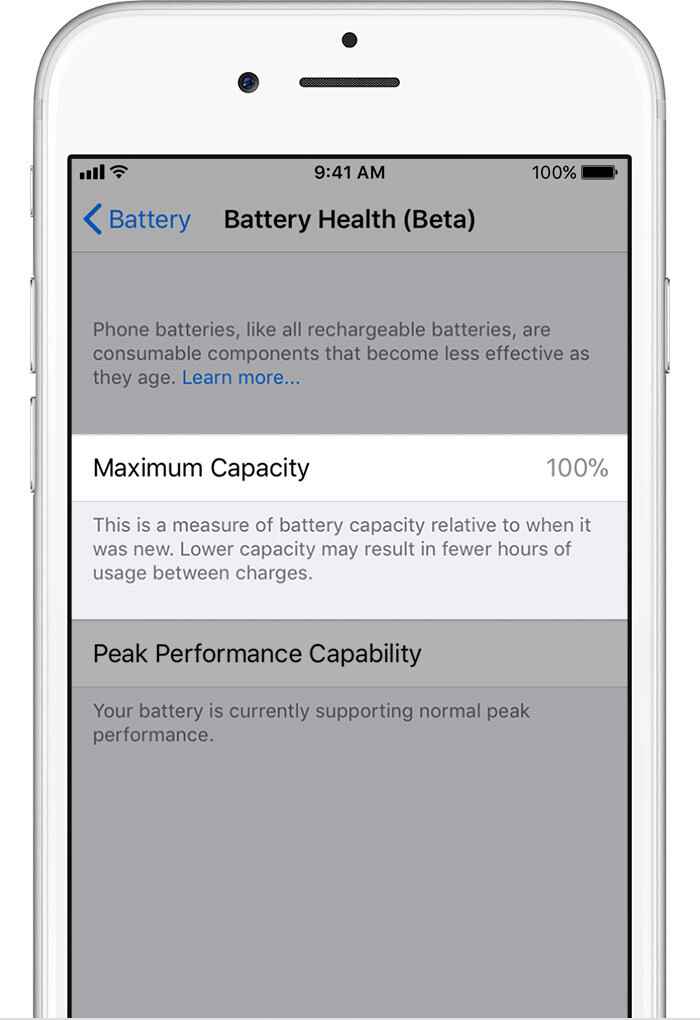 Maximum Capacity - iOS 11.3 Battery Health and Performance Throttling: what is it exactly?