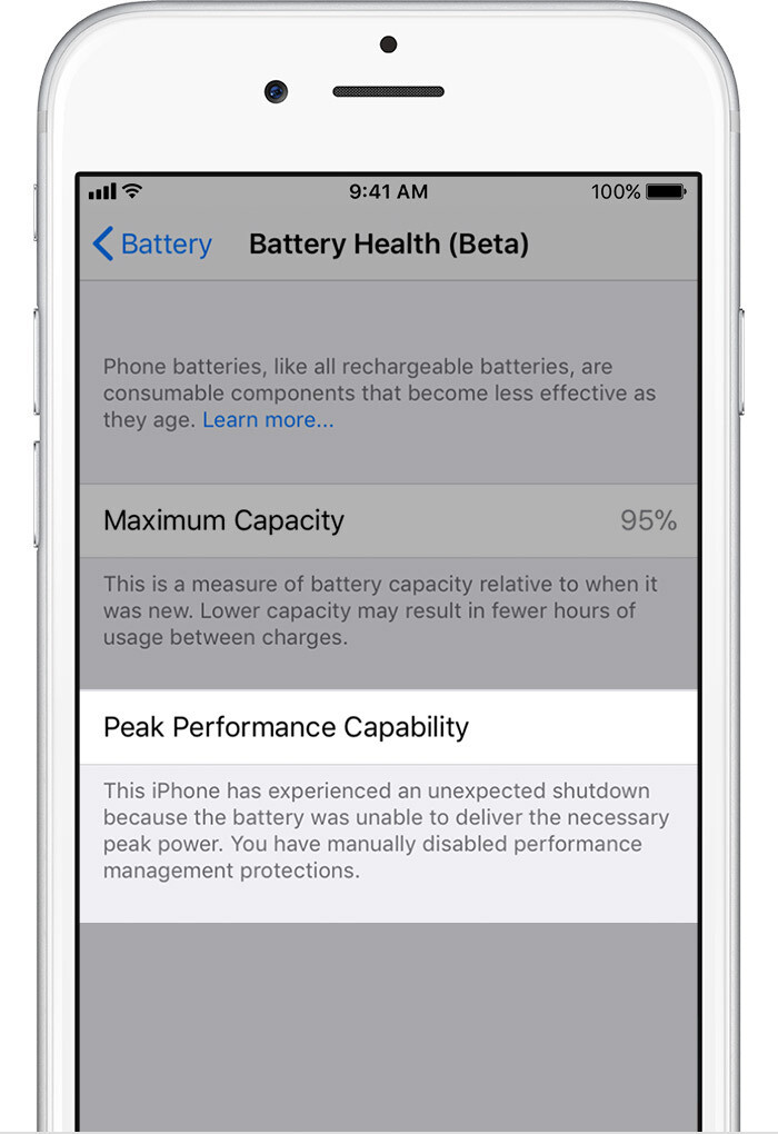 Battery Health Uknown - iOS 11.3 Battery Health and Performance Throttling: what is it exactly?