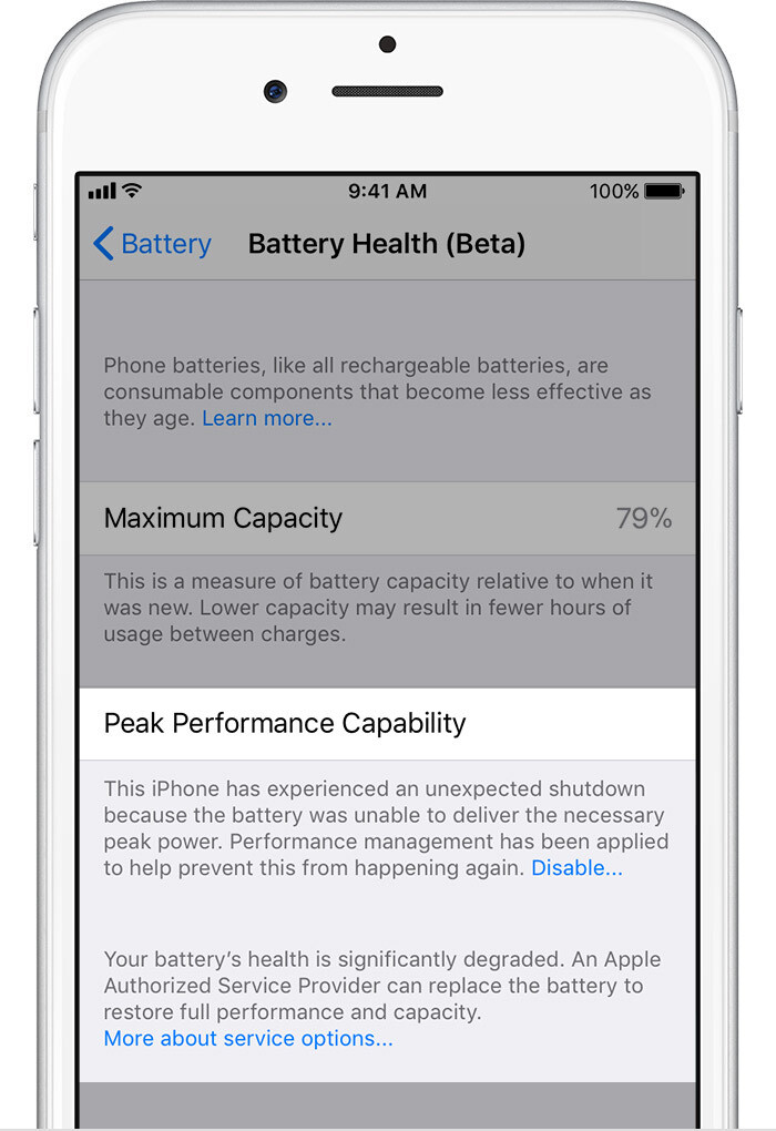 Performance Management Turned Off - iOS 11.3 Battery Health and Performance Throttling: what is it exactly?