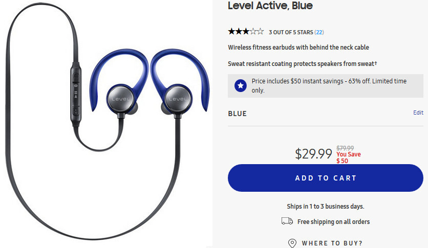Deal: Buy the Samsung Level Active wireless earbuds for just $29.99