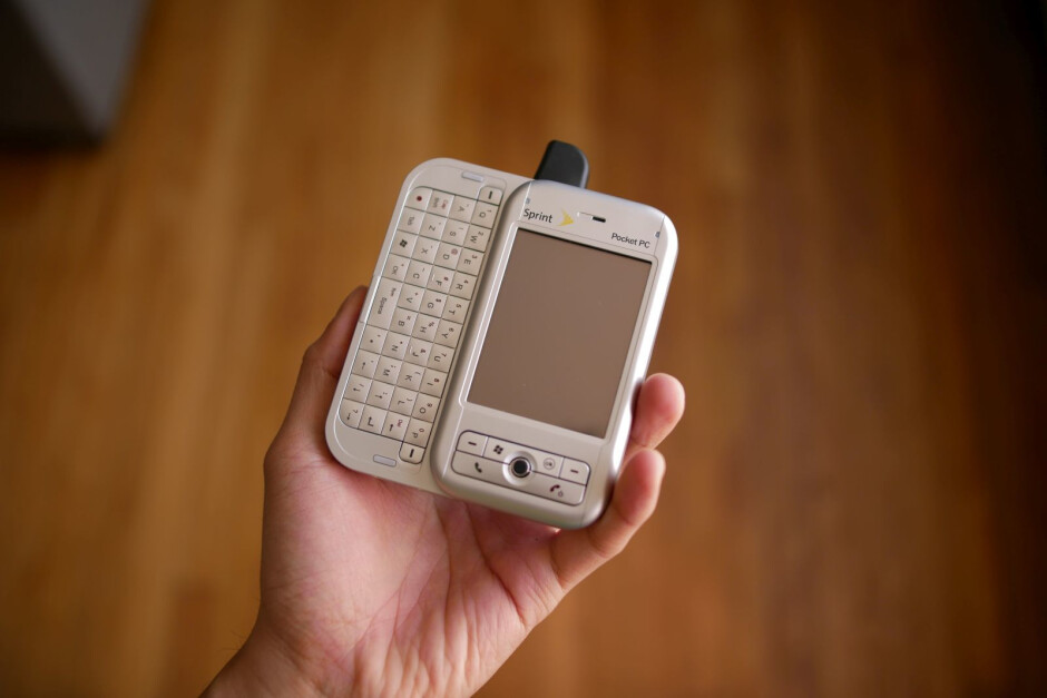 The Sprint PPC6700, one of the many white labeled variants of the HTC Apache. - A look back at the evolution of HTC's smartphone designs