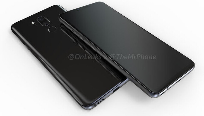 No joke: LG G7 renders (notch included) and dimensions leak out