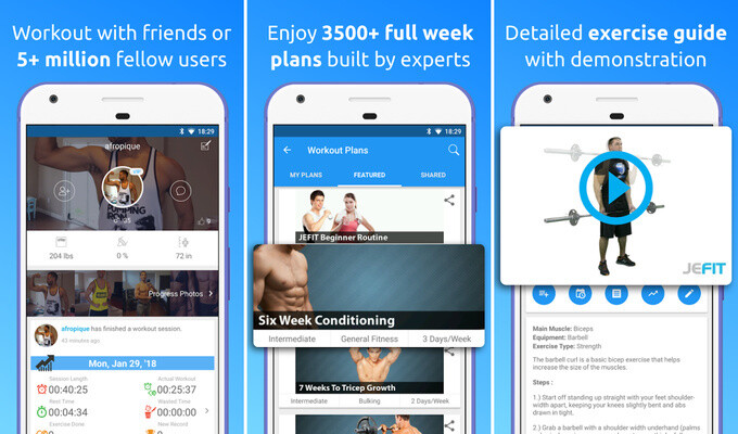 JeFit is a fully-fledged gym companion... and that's great! - Best free Android and iOS apps for a healthy lifestyle